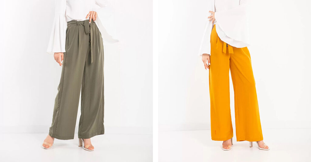 Bol paça pantolon kombinleri